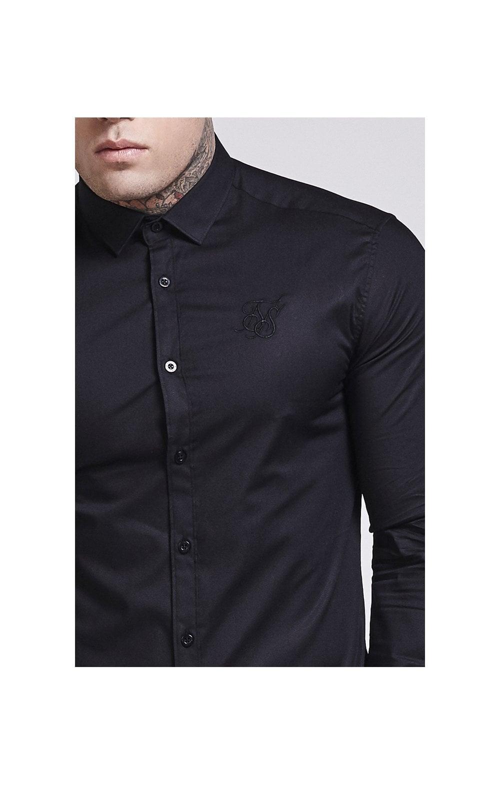 SikSilk Cotton Stretch Shirt - Black MEN SIZES TOP: Small