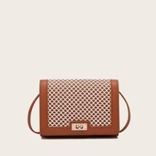 Contrast Lace Crossbody Bag