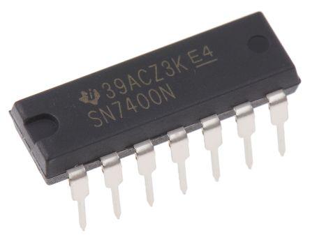 Texas Instruments SN7400N, Quad 2-Input NAND Logic Gate, 14-Pin PDIP