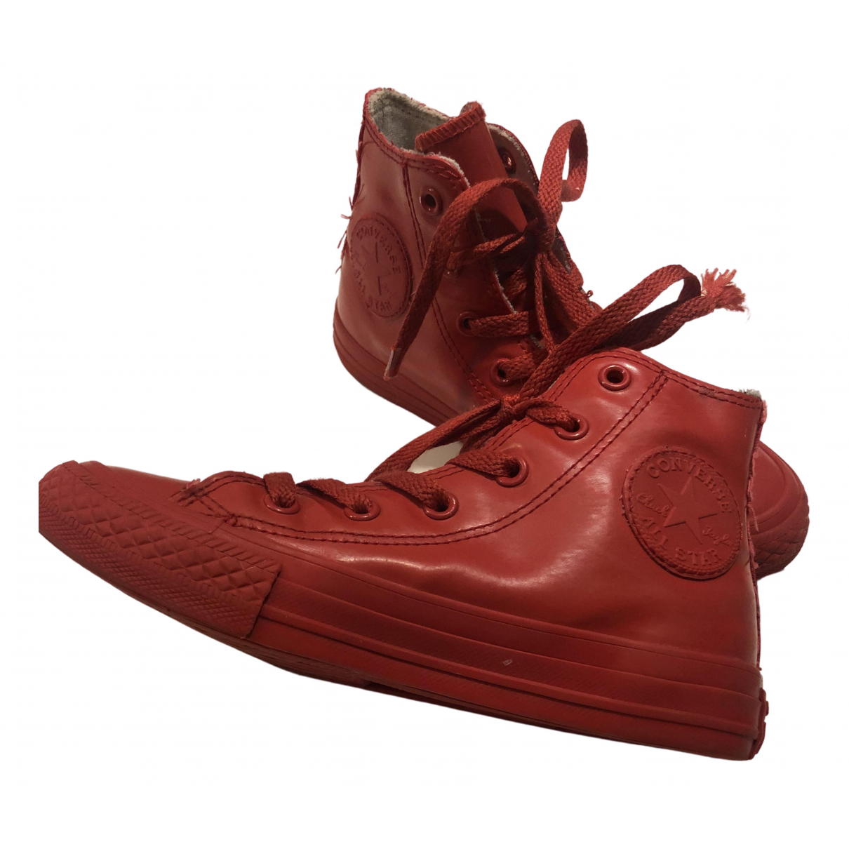 Converse N Red Rubber Trainers for Kids 30 FR