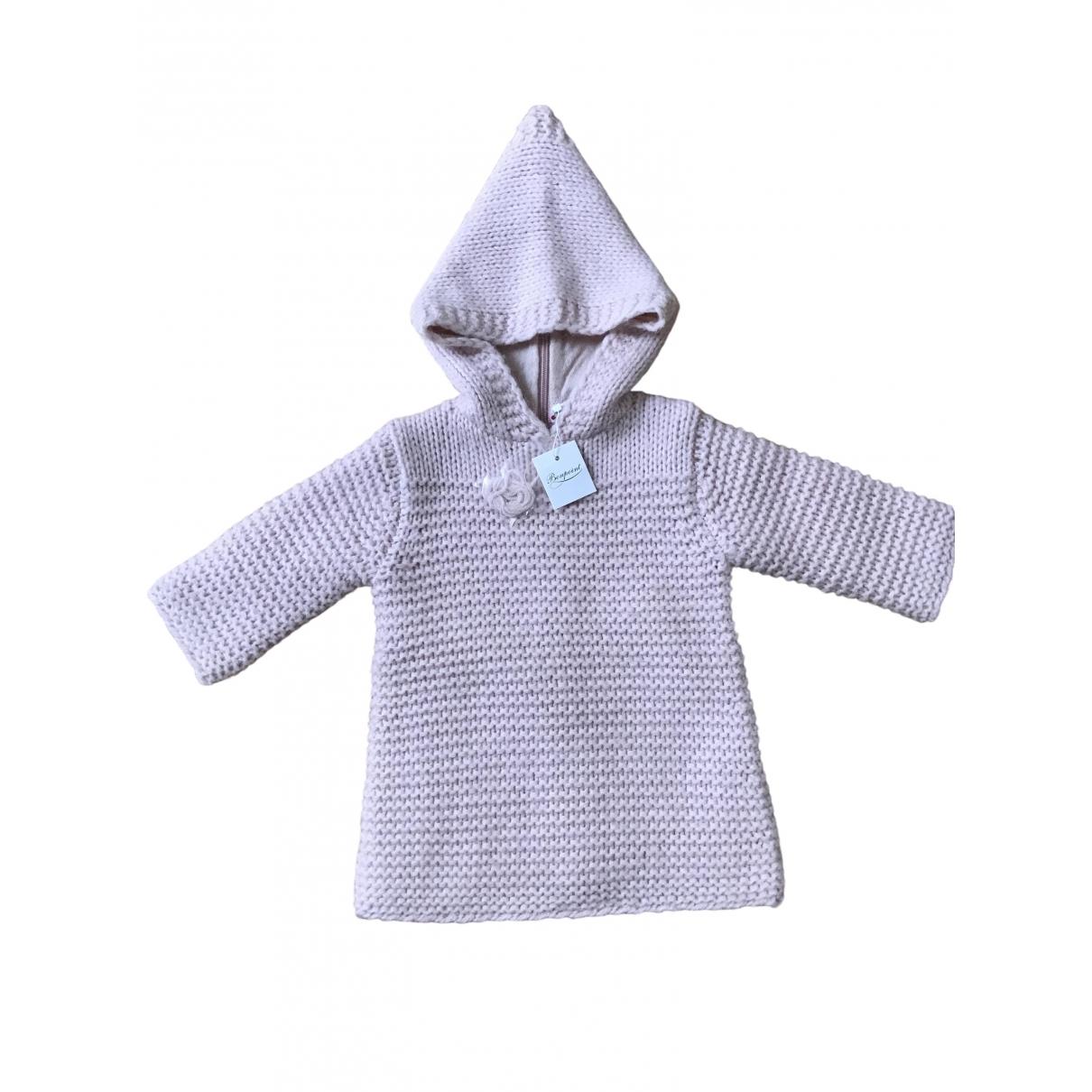 Bonpoint - Pull   pour enfant en laine - rose