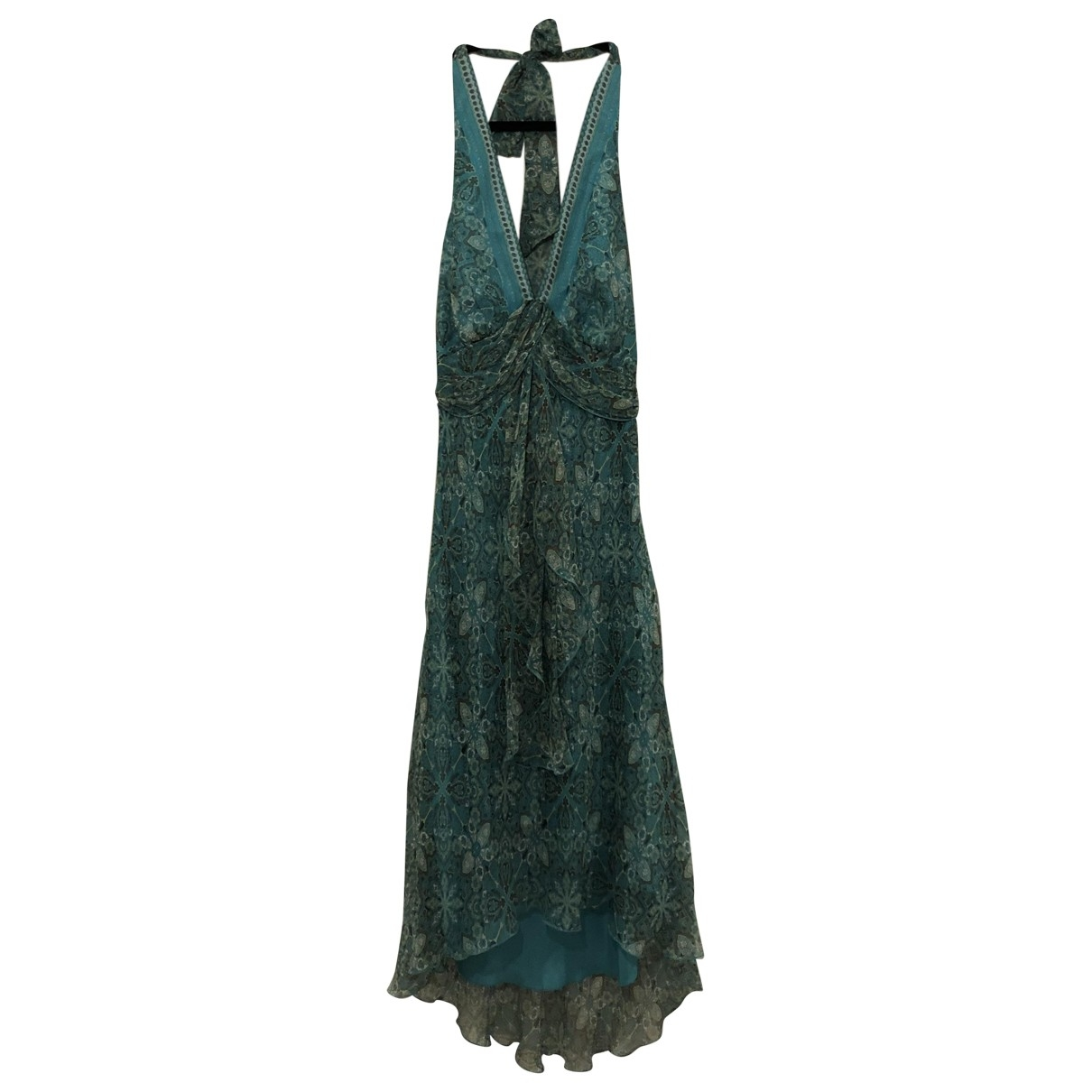 Vestido midi Hippie Chic de Seda Non Signe / Unsigned