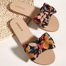 Sandalen mit Schleife Dekor