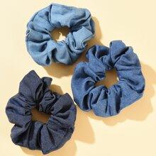 3pcs Simple Scrunchie