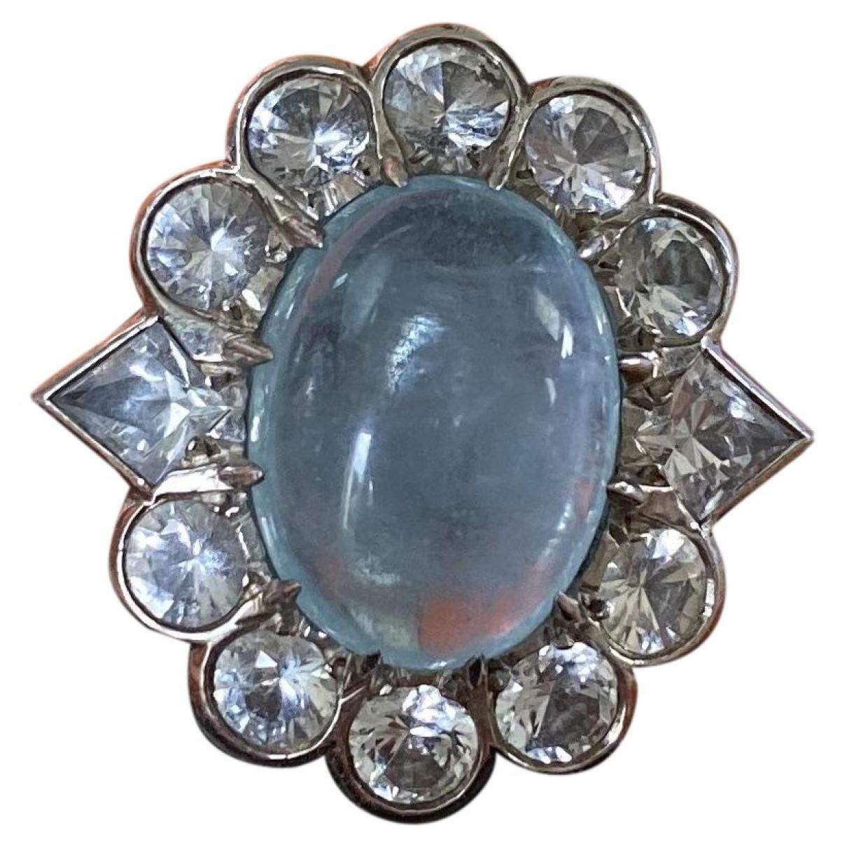 Hermes - Bague   pour femme en metal - bleu