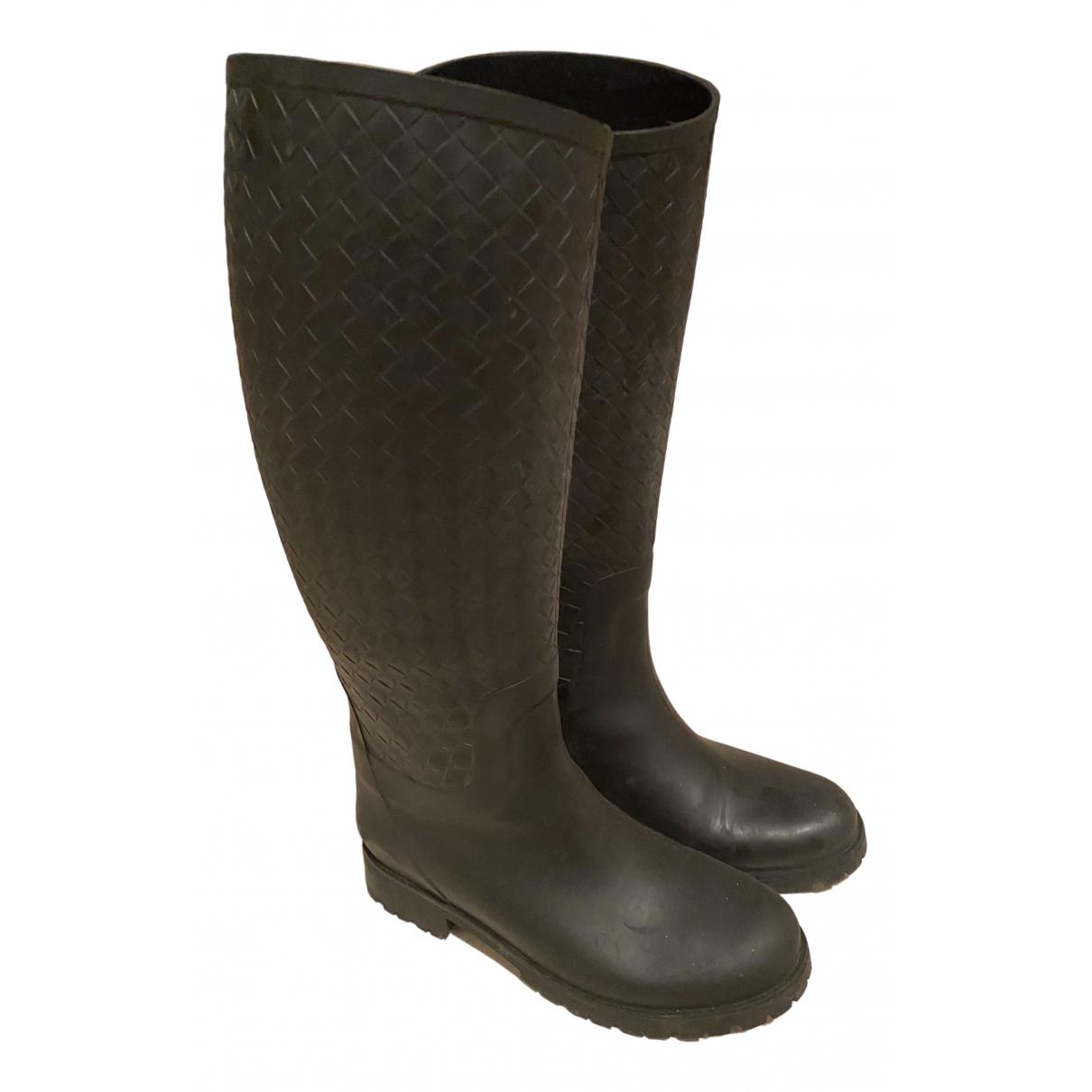 Bottega Veneta \N Grey Rubber Boots for Women 39 EU