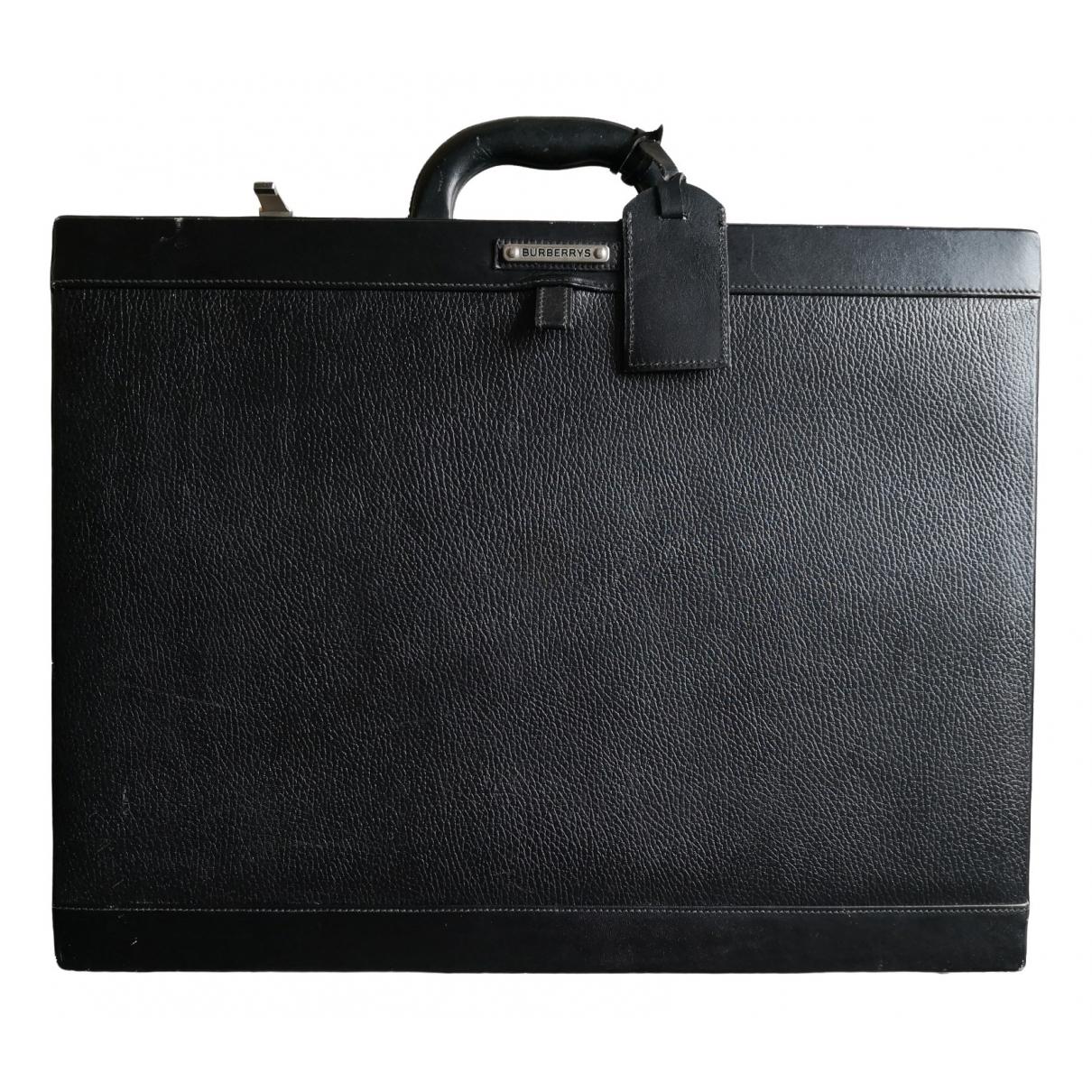 Burberry \N Black Leather bag for Men \N