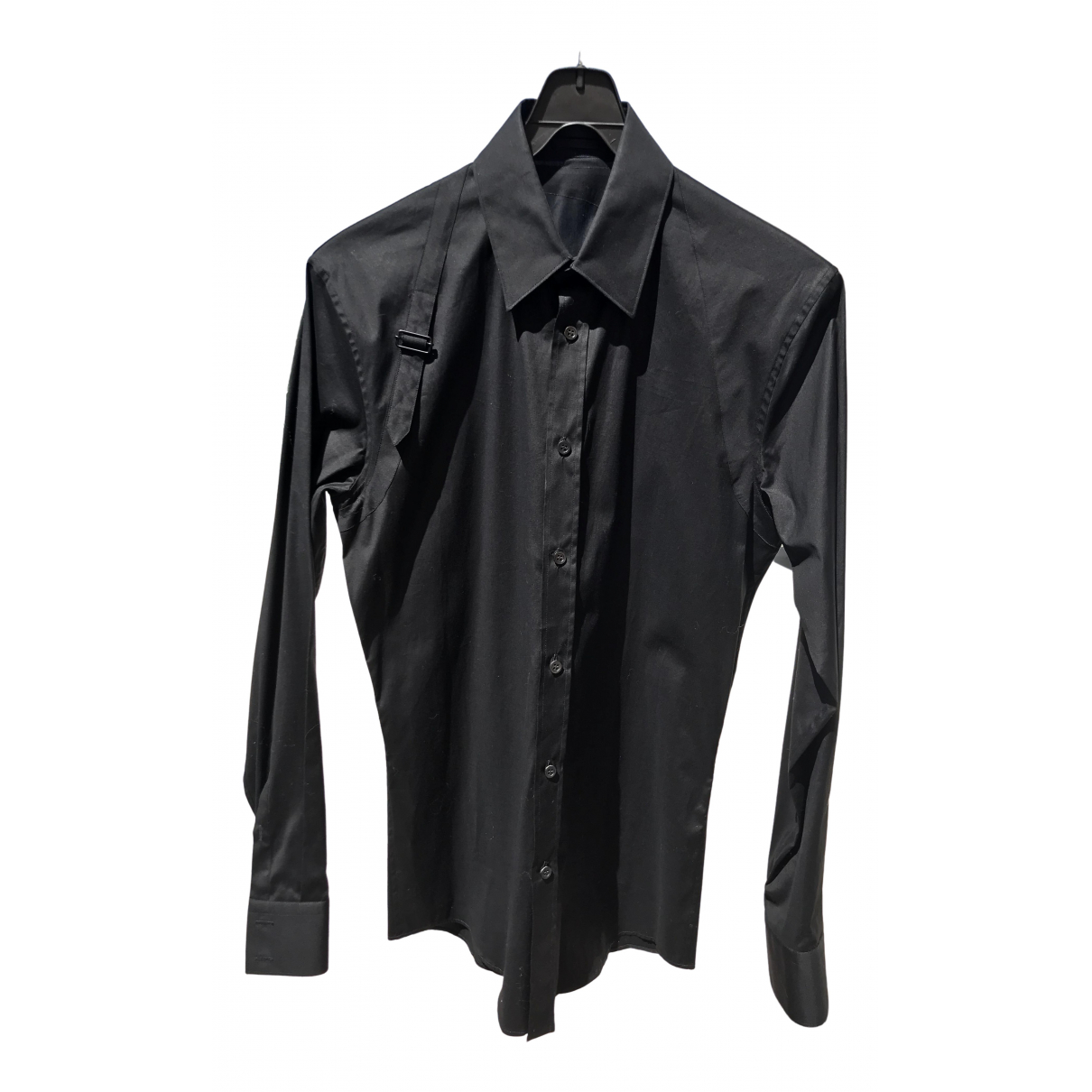 Alexander Mcqueen \N Black Cotton Shirts for Men 14.5 UK - US (tour de cou / collar)