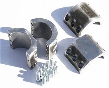 Rockhard 4x4 RH-1007-D Unpainted Sport Cage Component Locking Cap/Clamp Kit Jeep CJ7 76-78