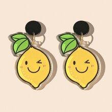 Ohrringe mit Zitronen Dekor