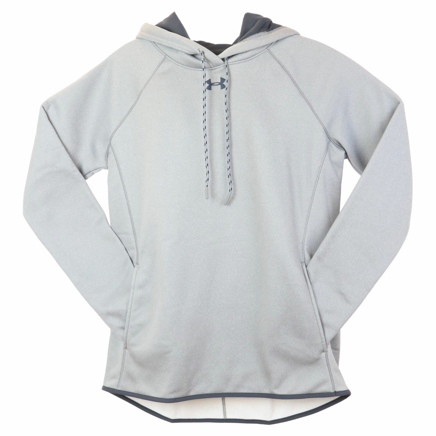 Under Armour Men's True Gray Heather / Stealth Double Threat Fleece Active Hoody - M