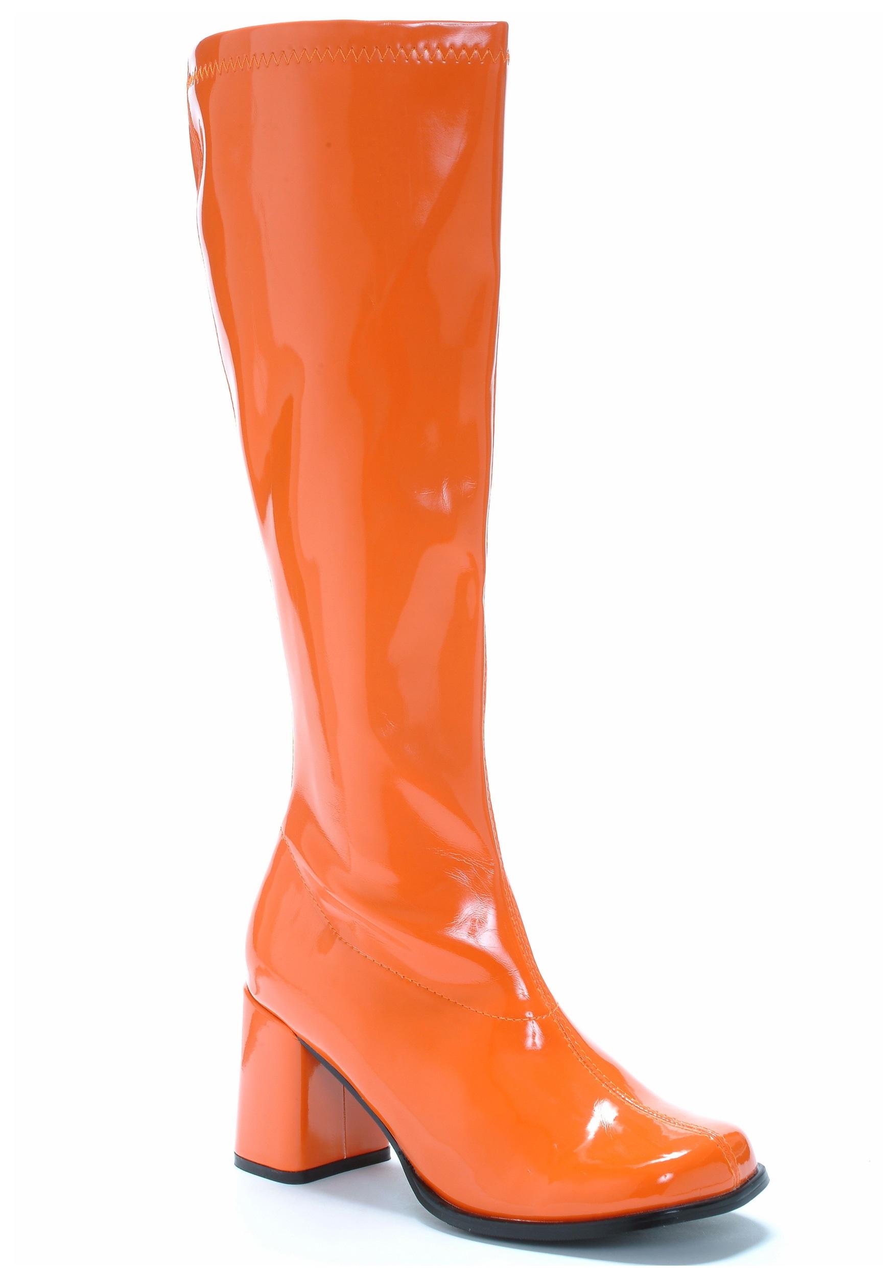 Orange Gogo Costume Boots For Women
