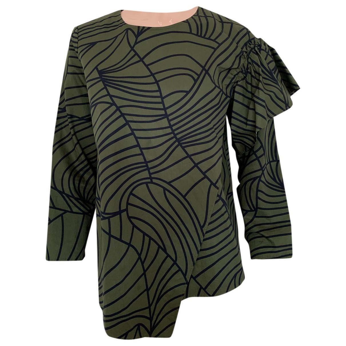 Cos - Top   pour femme en coton - vert