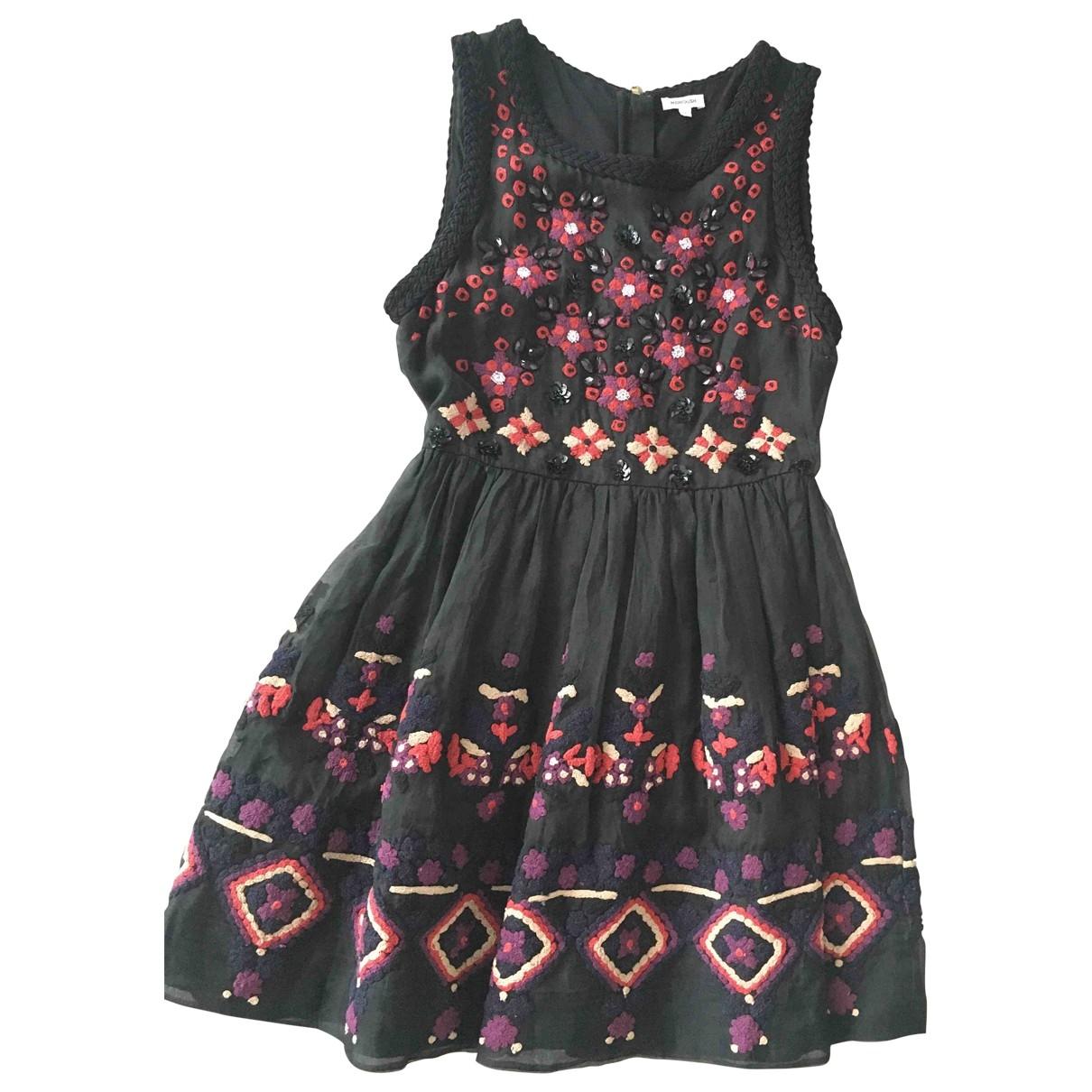 Manoush \N Kleid in  Schwarz Seide