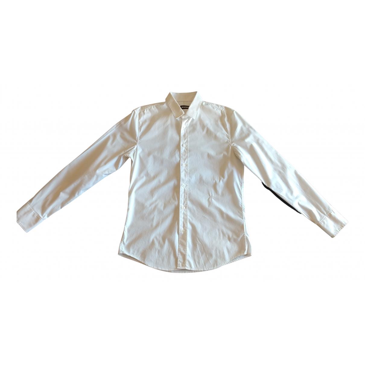 Dirk Bikkembergs N White Cotton Shirts for Men M International