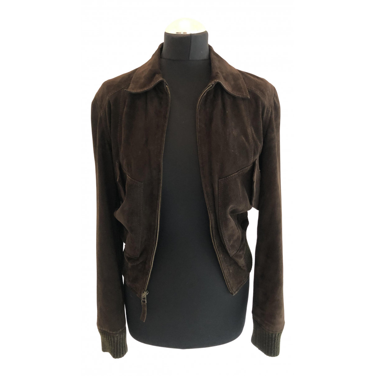 Massimo Dutti N Brown Suede jacket for Women S International