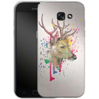 Samsung Galaxy A5 (2017) Silikon Handyhuelle - Splatter Deer von Mark Ashkenazi