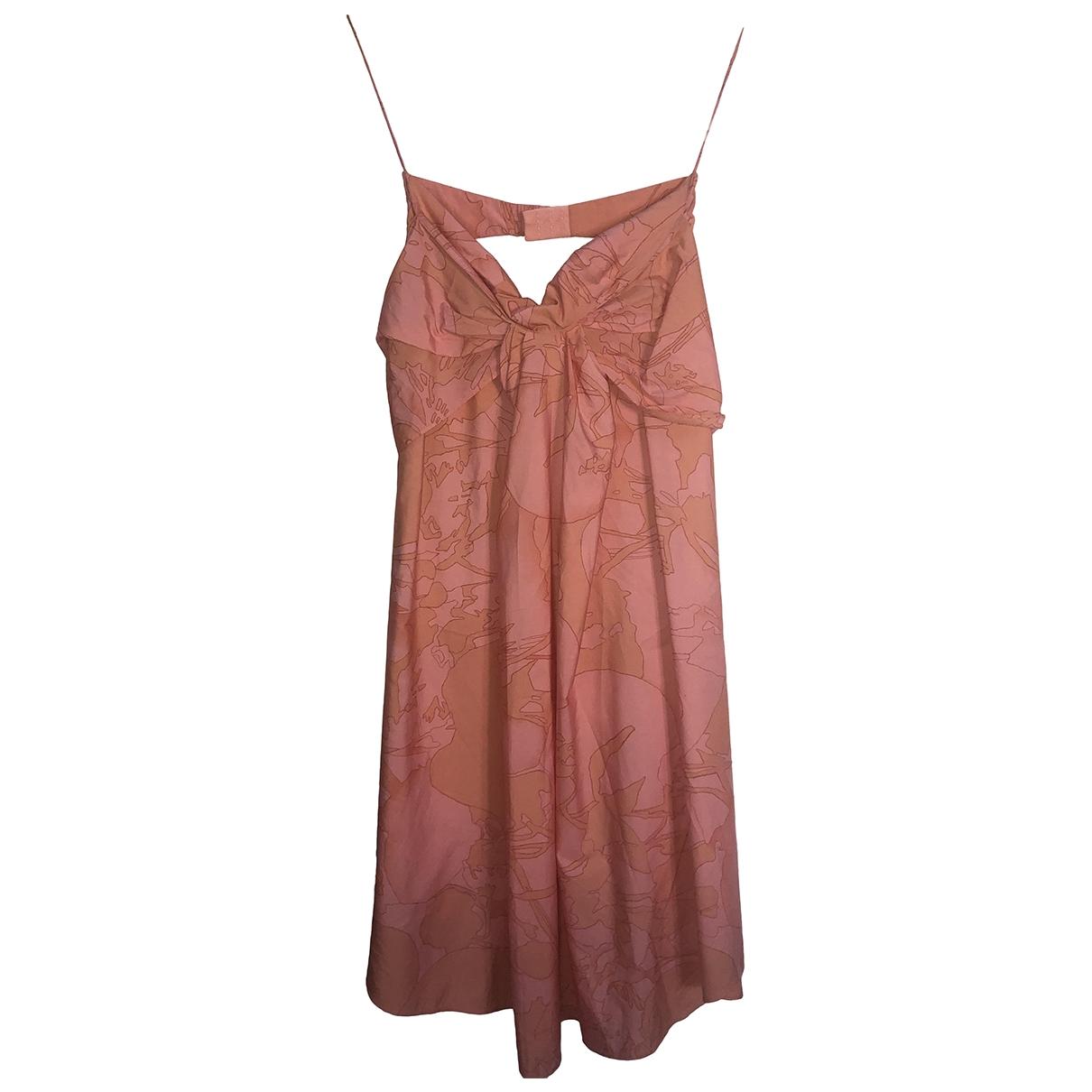 Vanessa Bruno \N Kleid in  Orange Baumwolle