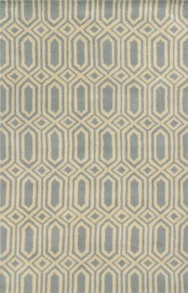 JLPJP8778LB000810 Julian Pointe JP8778-8' x 10' Hand-Tufted 100% Premium Blended Wool Rug in light blue  Rectangle