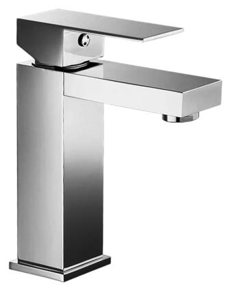 751.211.100 Chrome Single Rectangular Lever Handle Square Design Tall Lavatory
