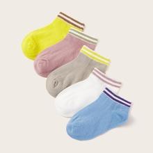 Kleinkind Kinder Socken mit Farbblock 5 Paare