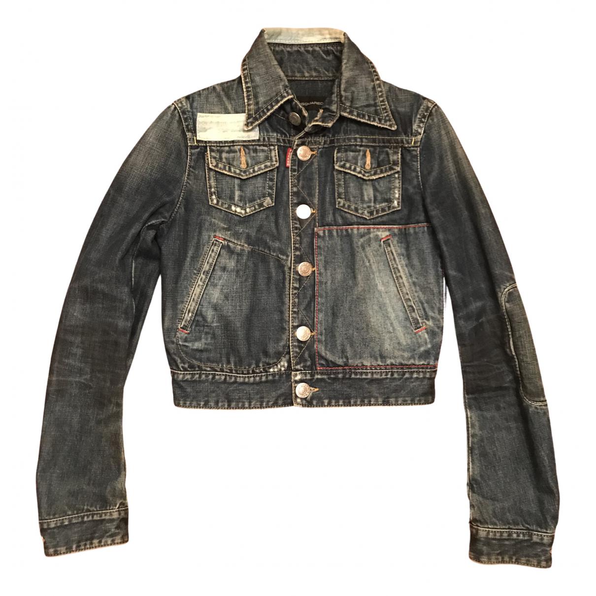 Dsquared2 N Blue Denim - Jeans jacket for Women 44 IT