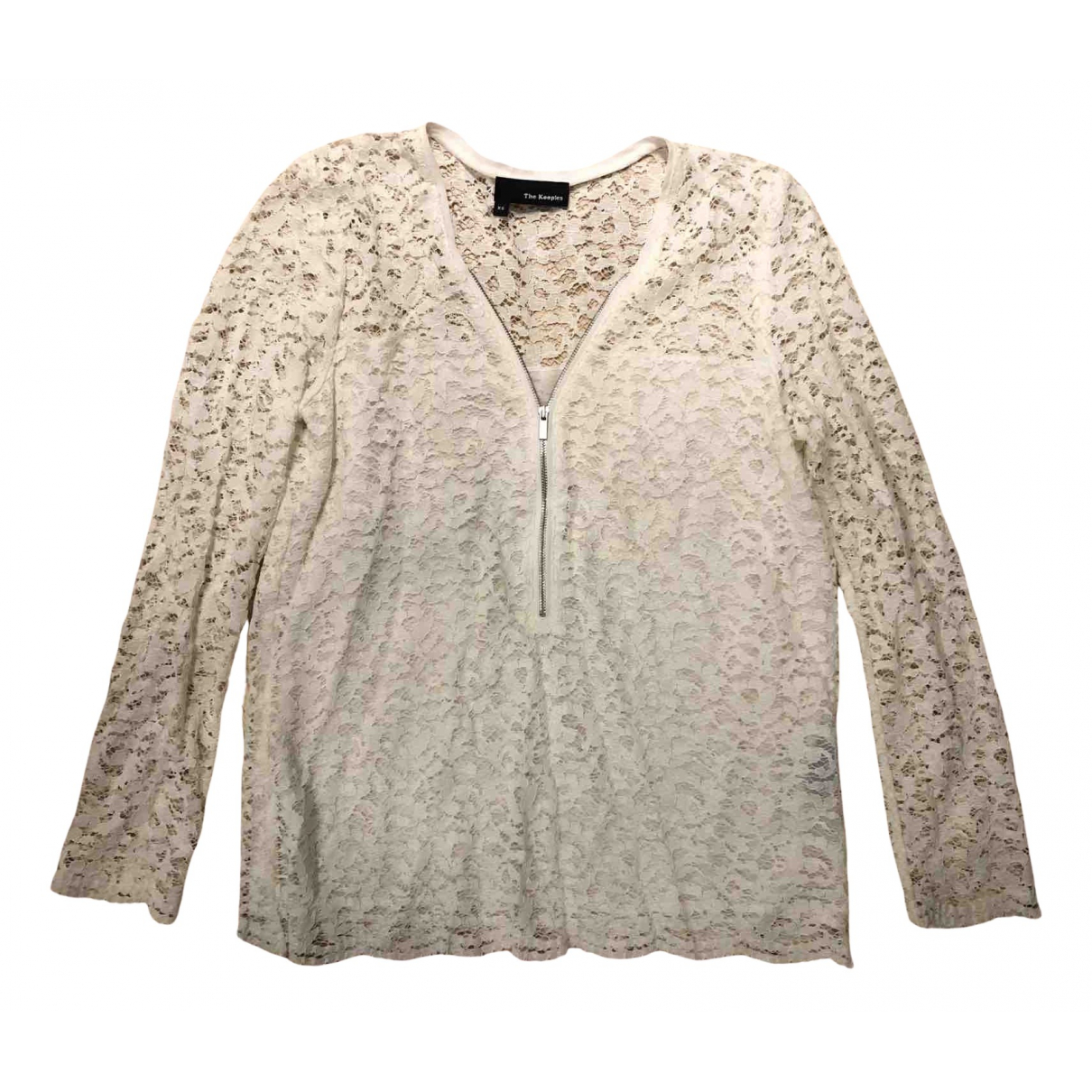 The Kooples N Ecru Lace  top for Women 36 FR