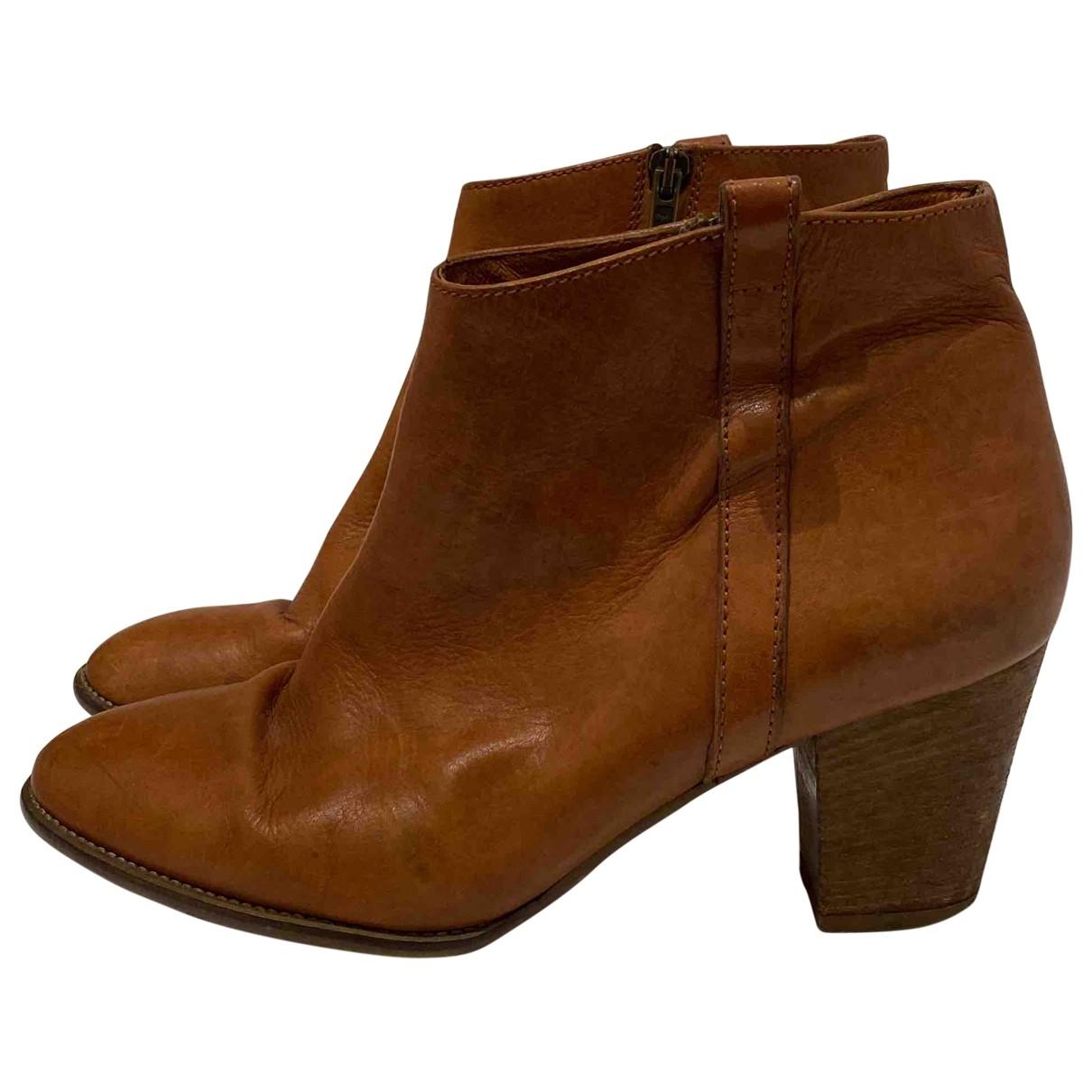 Madewell - Bottes   pour femme en cuir - marron
