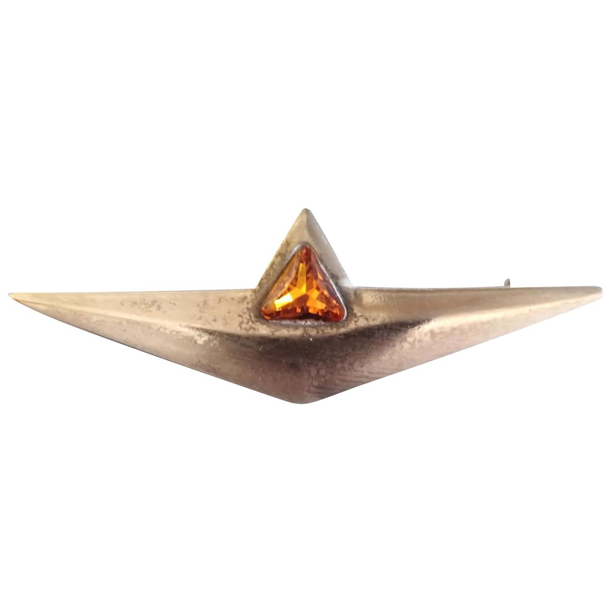 Non Signe / Unsigned Art Deco Brosche in  Silber Metall
