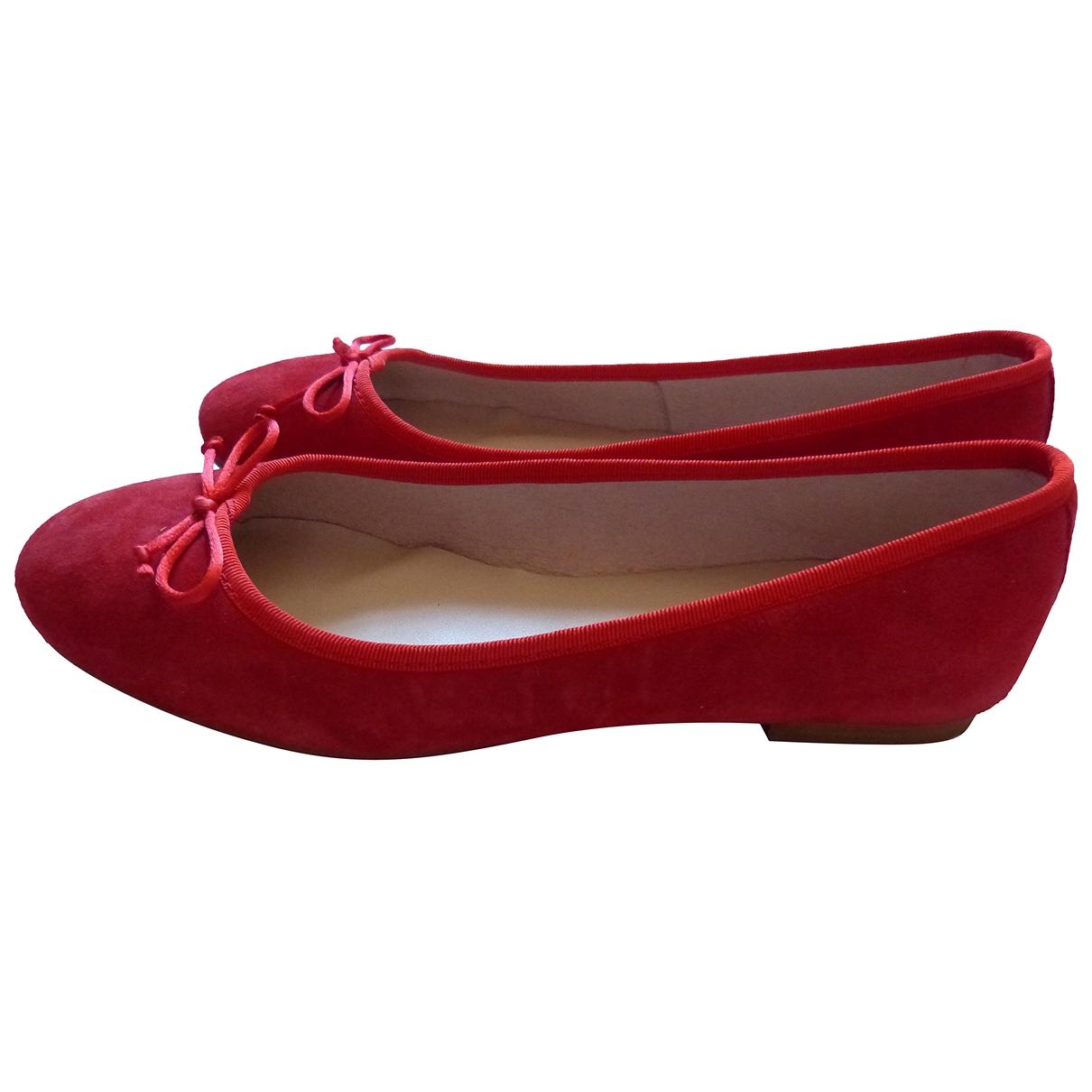 Pierre Cardin \N Ballerinas in  Rot Leder