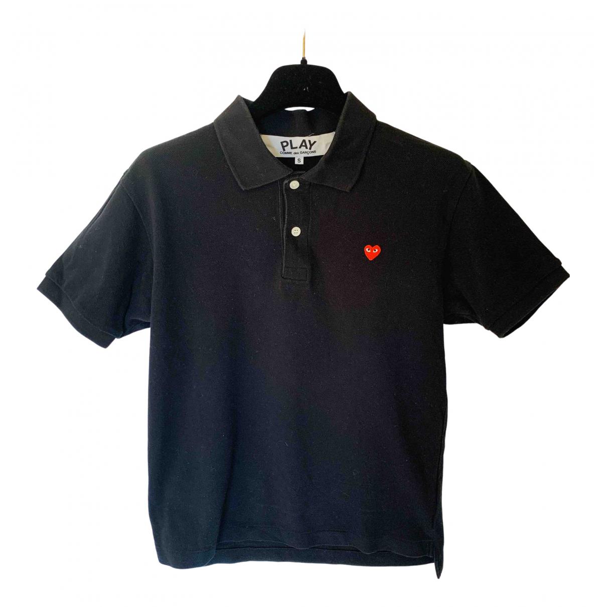 Play Comme Des Garçons N Black Cotton Polo shirts for Men S International