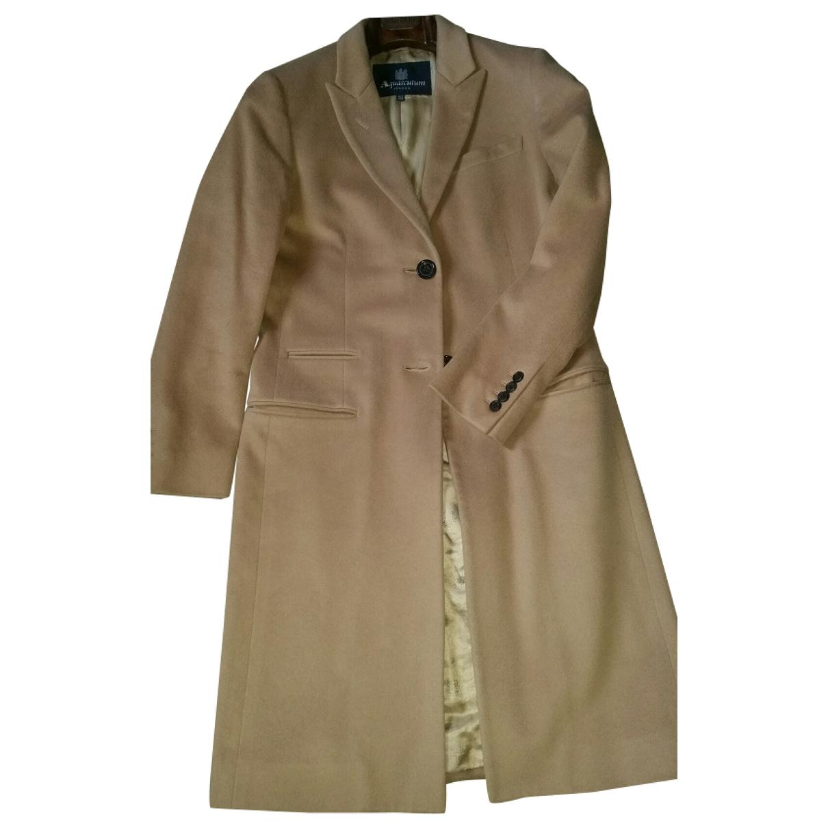 Aquascutum \N Camel Wool coat for Women 42 IT