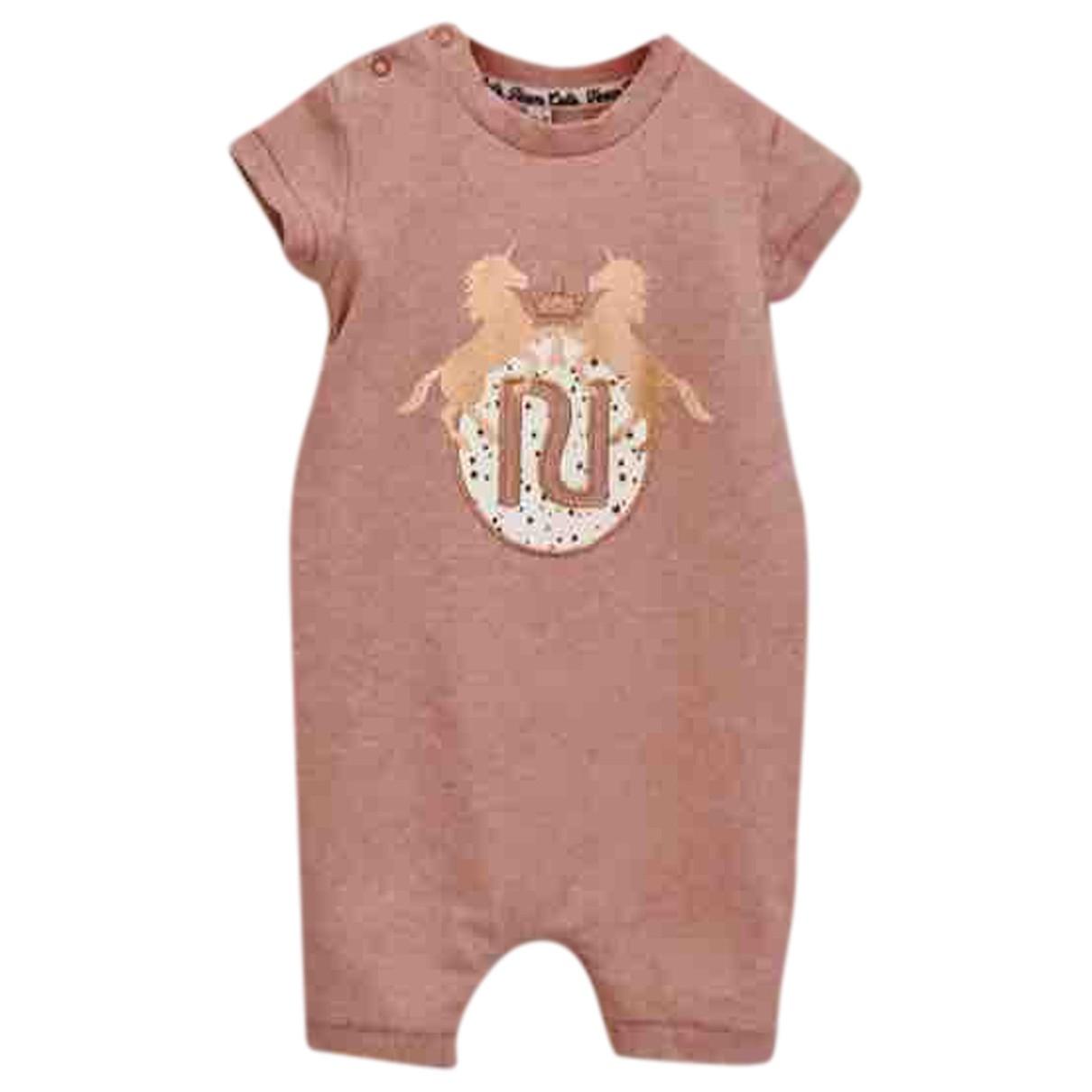 River Island - Robe    pour enfant en coton - rose