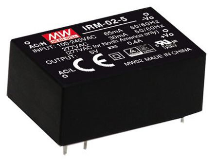 Mean Well , 2W Encapsulated Switch Mode Power Supply, 5V dc, Encapsulated