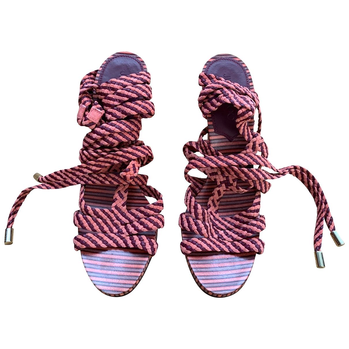 Jimmy Choo - Sandales   pour femme en cuir - multicolore