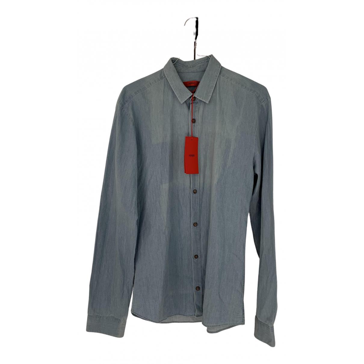 Hugo Boss N Blue Cotton Shirts for Men S International