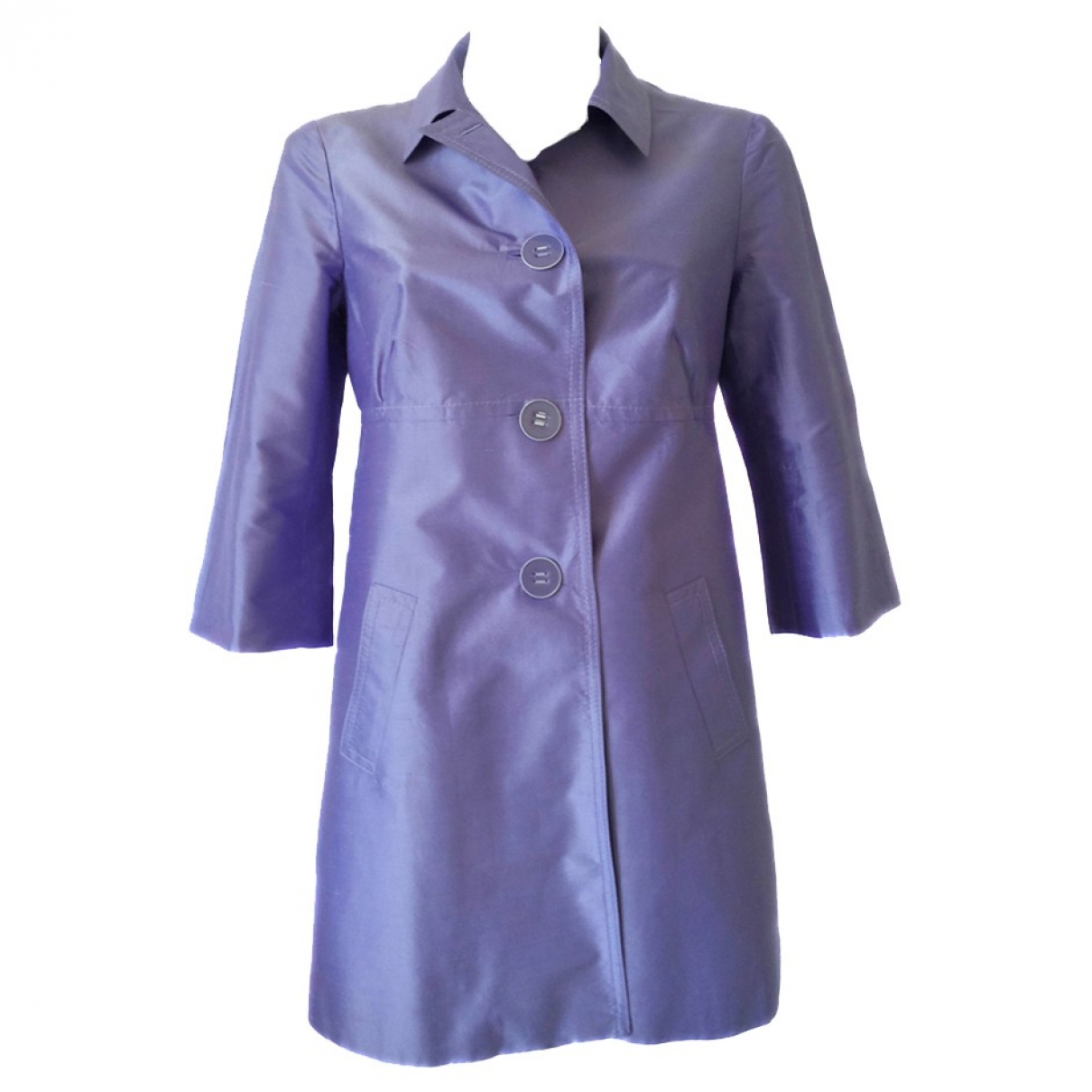 Non Signé / Unsigned \N Purple Silk coat for Women 42 IT