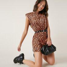 Vestidos Boton Leopardo Casual