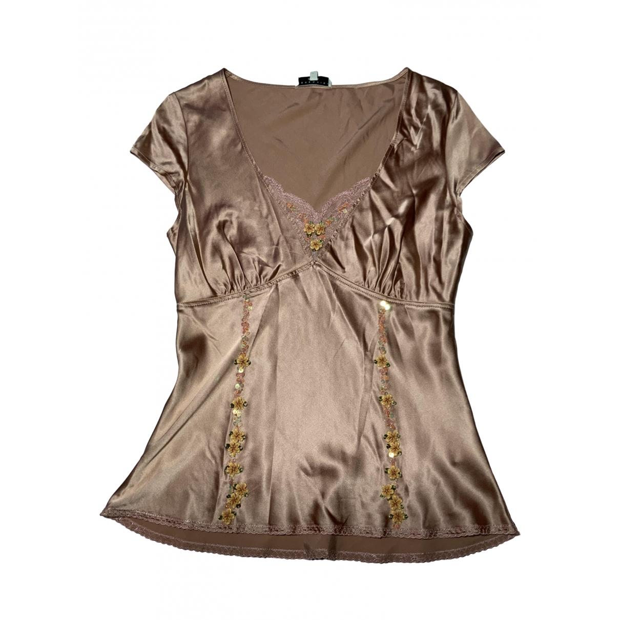Essentiel Antwerp - Top   pour femme en soie - rose