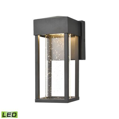 45279/LED Emode 1-Light Sconce in Matte Black with Seeded