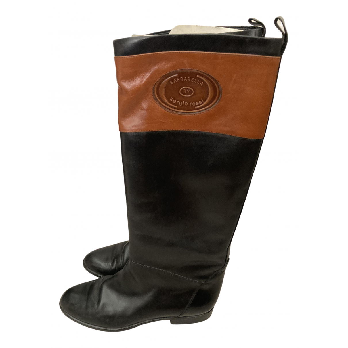 Sergio Rossi \N Black Leather Boots for Women 39 IT