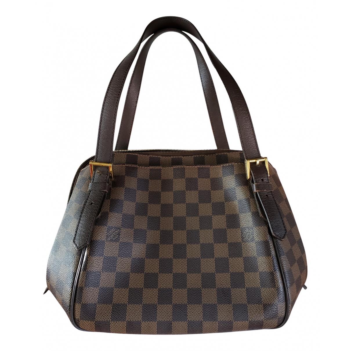 Louis Vuitton Rivington Handtasche in  Braun Leinen