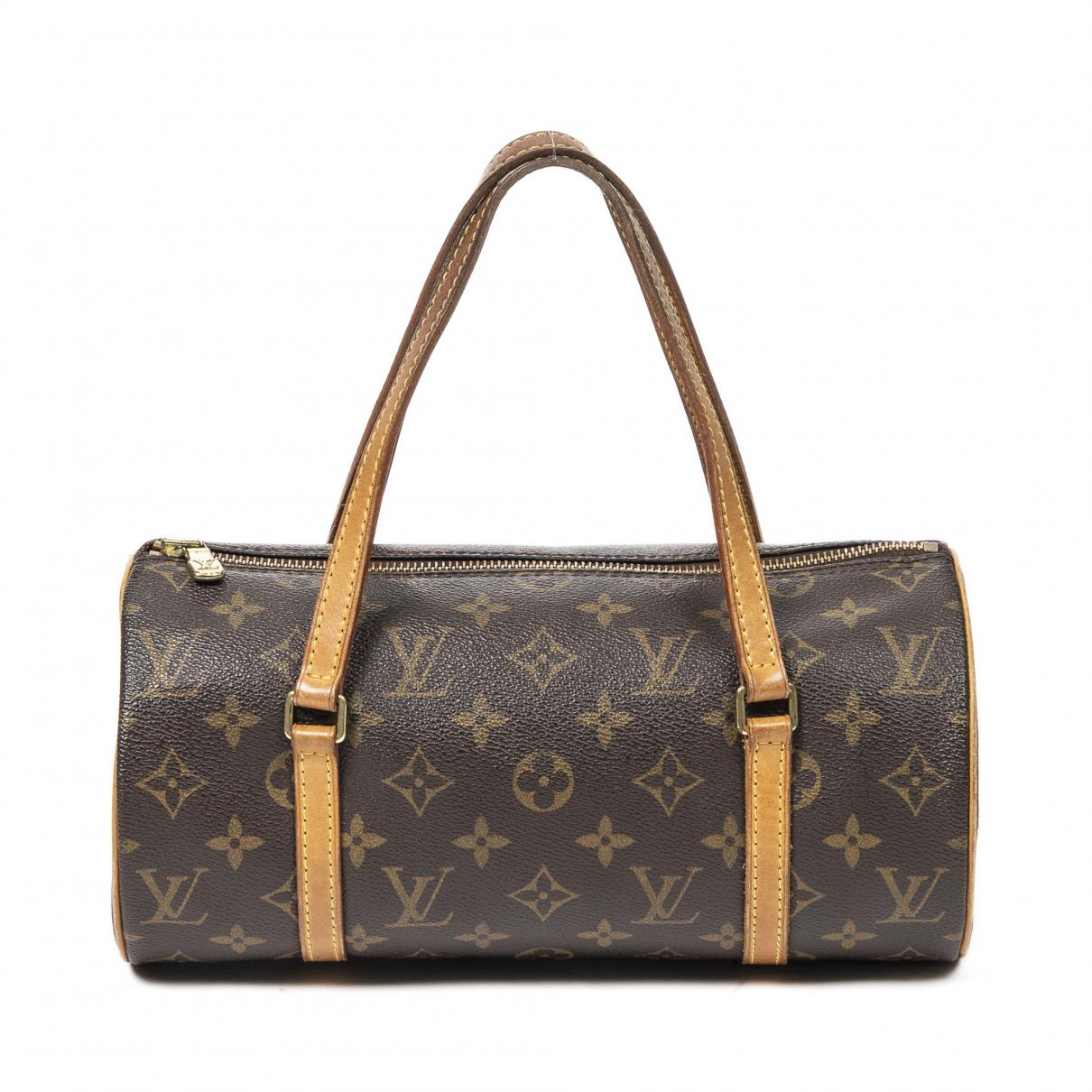 Louis Vuitton Papillon Handtasche in  Braun Leder