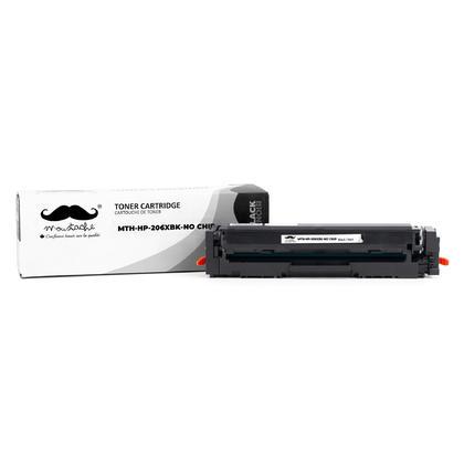 Compatible HP 206X W2110X cartouche de toner noire haute capacite - sans puce - Moustache