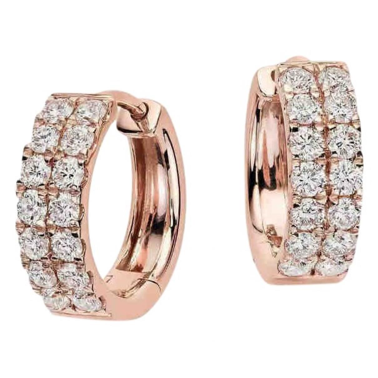 - Boucles doreilles Creoles pour femme en or rose