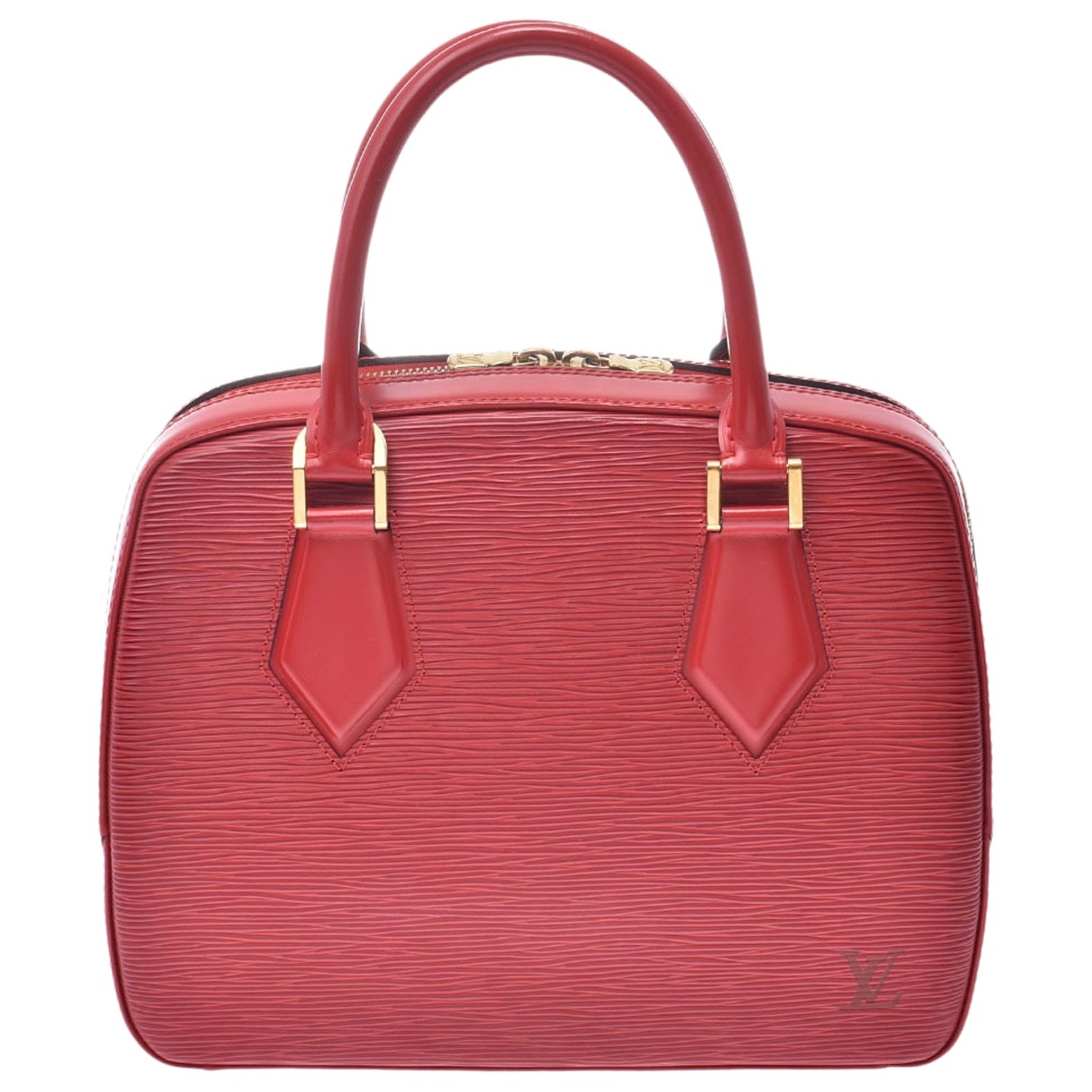 Louis Vuitton - Sac a main Sablon pour femme en cuir - rouge