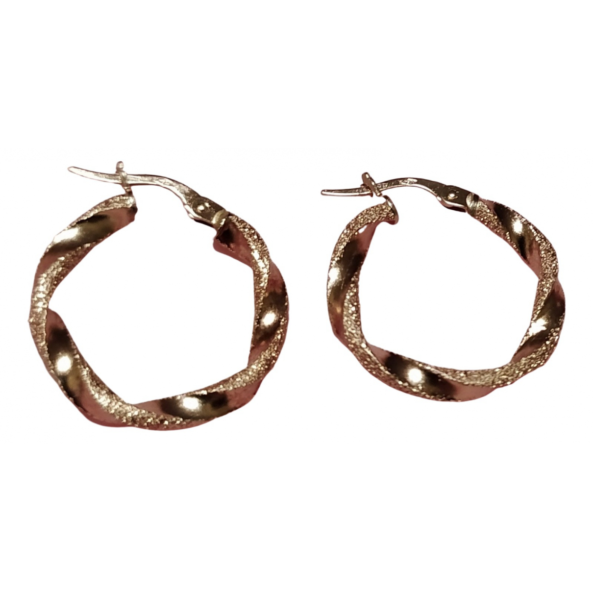 Non Signé / Unsigned Créoles Yellow gold Earrings for Women \N