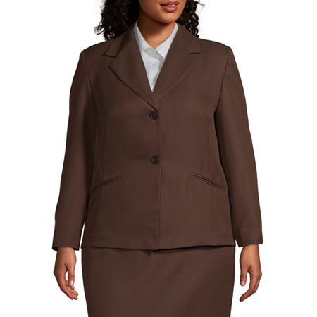 Alfred Dunner-Plus Suiting Suit Jacket, 20W , Brown