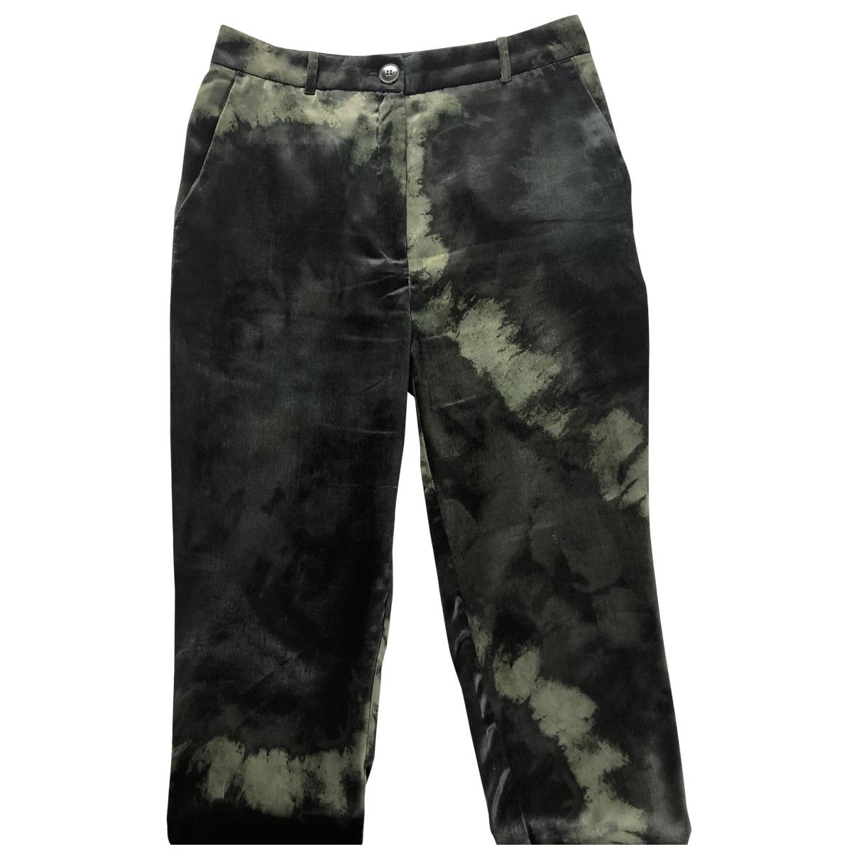 Mango \N Green Trousers for Women S International