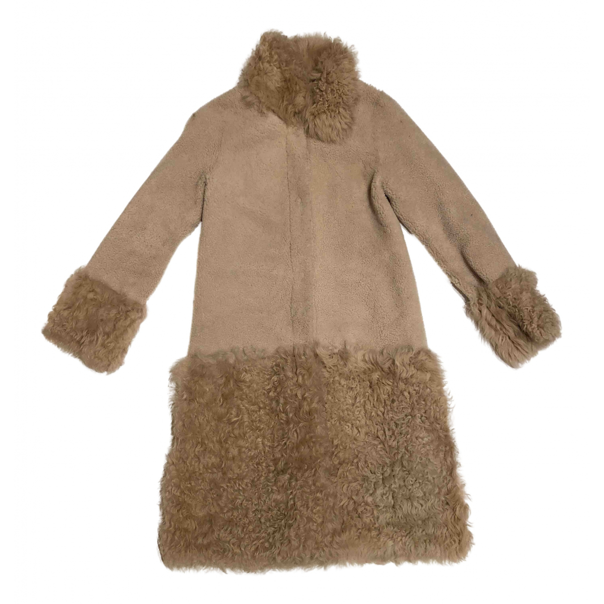 Karen Millen N Beige Shearling coat for Women XS International